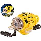 ALLCACA RC U-Boot Ferngesteuerte Boot-Spielzeug mit 0.3MP Kamera, LED-Leuchten und einzigartige Fütterung Gerät, ideal für Kinder, gelb