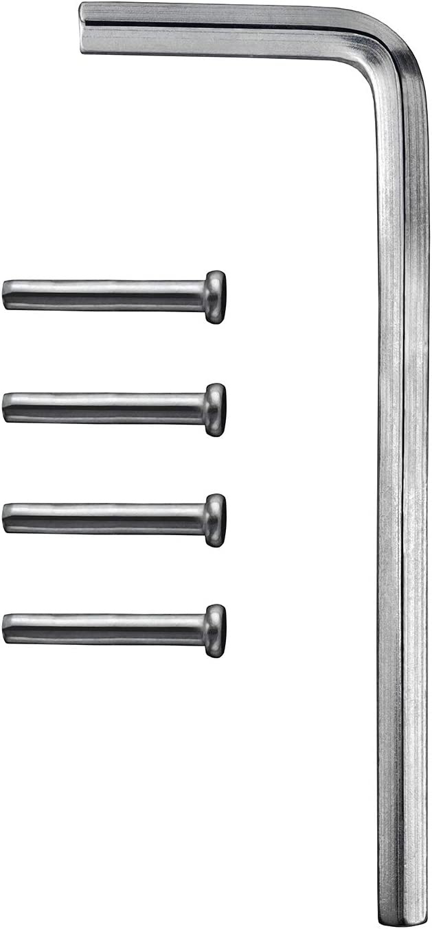 KS Hardware Spring Hinge Tension Pin Replacement Pack, 4 Pack (Includes Hex Wrench)