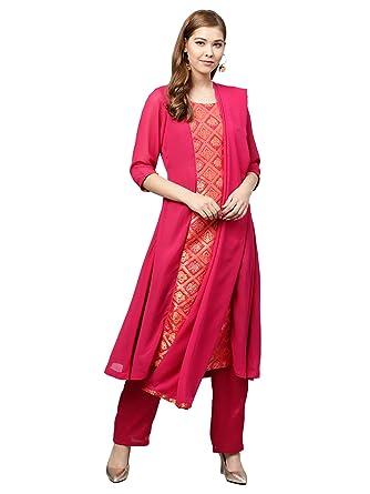 52c0430b44 Inddus Georgette Salwar Suit: Amazon.in: Clothing & Accessories