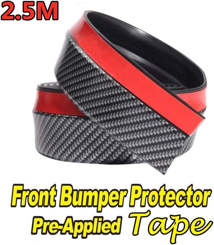 Universal Car Front Lip Bumper Protector 2.5M Bumper Skirt Rubber Strip