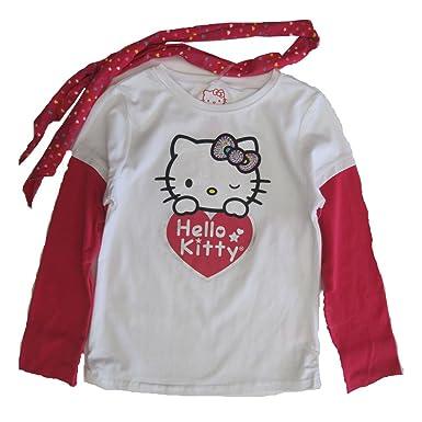 05c62baea Amazon.com: Hello Kitty Red White Glitter Applique Heart Dotted ...