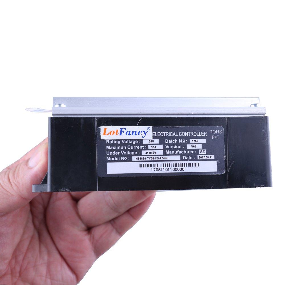 LotFancy 36V Controller for Razor MX500(V21+), MX650(V14+), Razor EcoSmart Metro Electric Scooter(All Vertions), RSF650(All Version) Dirt Rocket, Part Number: W15165070015, Model: HB3650-TYD6-FS-ROHS by LotFancy (Image #5)