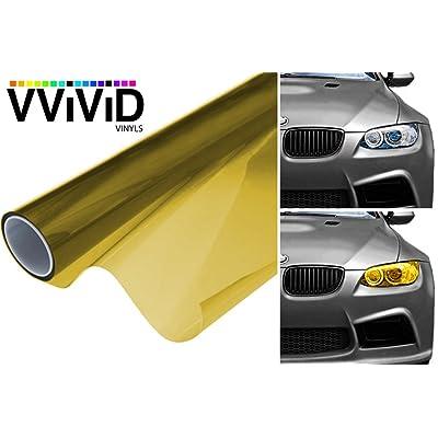"VViViD Air-Tint Headlight/Tail Light Window Tint (12"" x 48"", Yellow): Automotive"