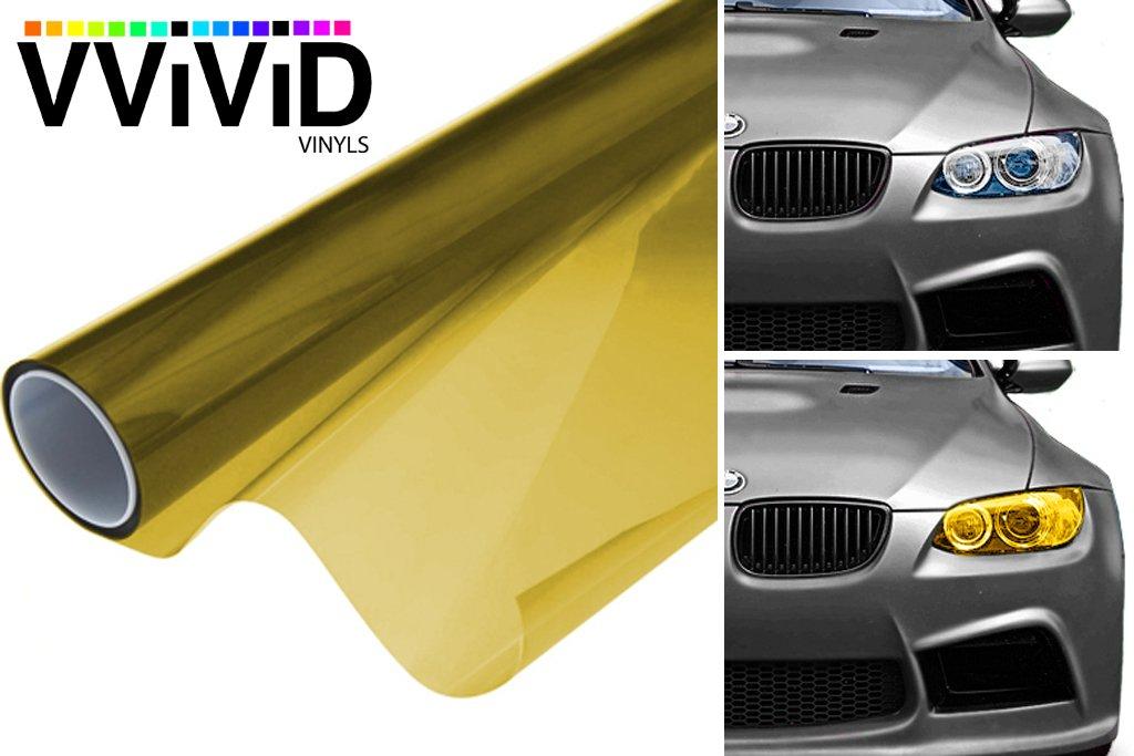 VViViD Air-Tint Golden Yellow Headlight/Tail Light Window Tint (120 Inch x 48 Inch Bulk roll)