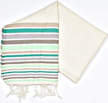 Rio Verde - 100% algodón Fouta toalla de baño, 100cm x 200 cm,