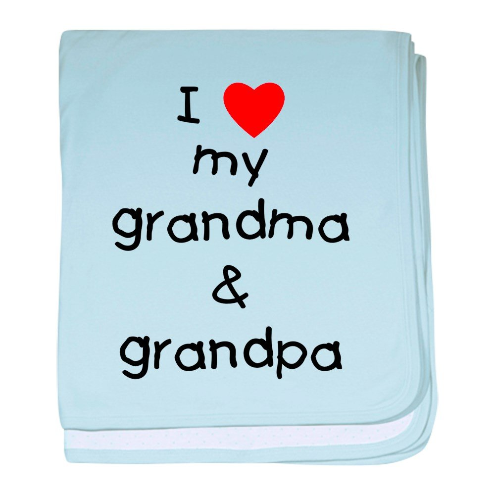 CafePress - I Love My Grandma & Grandpa - Baby Blanket, Super Soft Newborn Swaddle