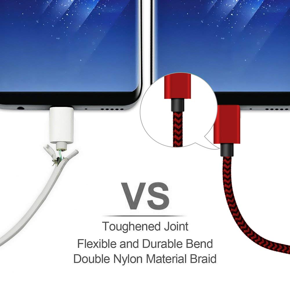 Amazon.com: USB Type C Cable, (10Ft 2Pack) Extra Long Charging Cord for Samsung Galaxy Note 9,Durable Fast Braided USB C Charger for Samsung Galaxy S9 S8 ...