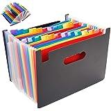 ドキュメントスタンド ファイルボックスフォルダー 書類入れA4判 縦 書類収納 a4 pp ジャバラ アコーディオン式 伸縮仕様 ファイル 書類入れ ケース ファイルスタンド 24ポケット インデックス付き 大容量 机上整理/整頓/収納