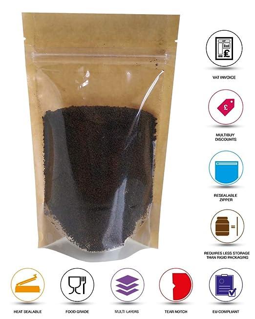 Rightpak - Bolsas de papel kraft transparentes de un lado ...