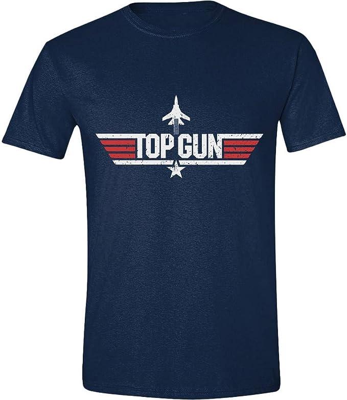 Top Gun Camiseta de Hombre Logo de algodón Azul: Amazon.es: Ropa y ...