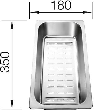 blanco 220 415 resteschale siebschale zubehör edelstahl spüle ... - Spülbecken Küche Edelstahl