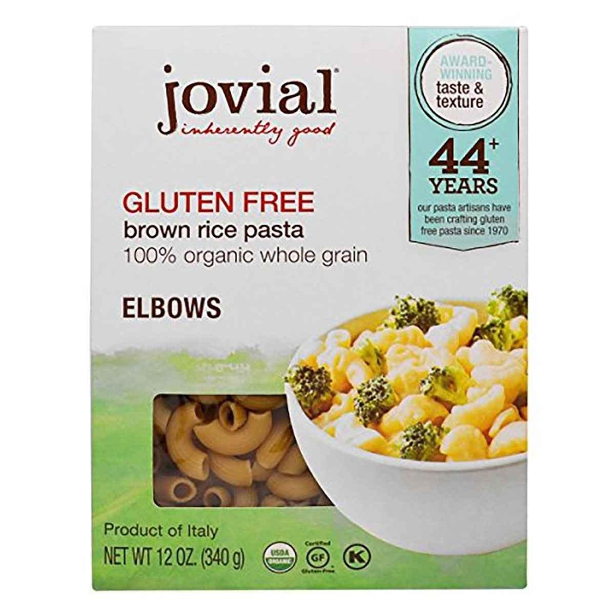 Jovial Pasta,Og1,Brown Rice Elb 12 oz (Pack of 12)