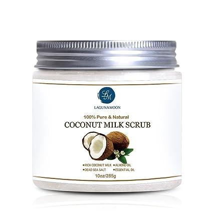 Leche de Coco Scrub Exfoliante Corporal y Facial Scrub para limpieza profunda, exfoliación, Pore