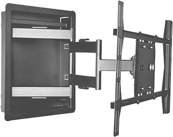 Empotrable en pared caja soporte articulado para Samsung LED TV un75ju7100, un75ju6500, un75j6300... Con Libre (1 x) 8 Outlet Surge Protector, (2 x) HDMI Cable 6 ft: Amazon.es: Electrónica