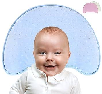 0-12 Monate Orthop/ädisches Plattkopf Babykissen Memory-Schaum Kopfform Neugeborene Kopfkissen