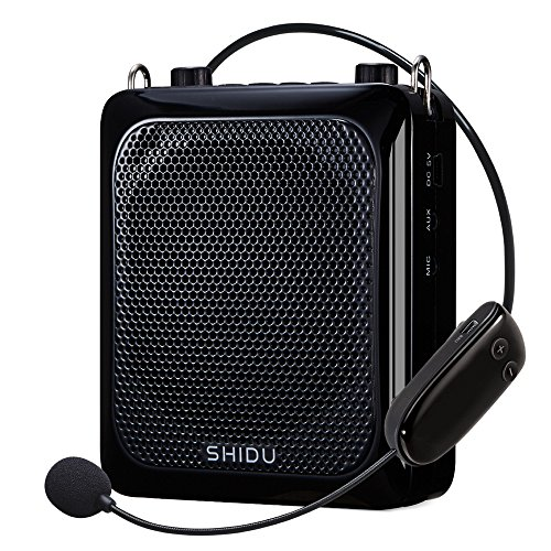 Wireless Voice Amplifier, Btree 30W Electronic Voice Amplifier, Portable Microphone Voice Amplifier, Rechargeable PA System Speakers with Handheld & Headset Microphone for Teachers, Guides (black)
