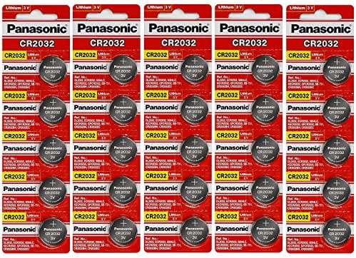 Panasonic CR2032 3 Volt Lithium Coin Cell Battery - 25 Batteries