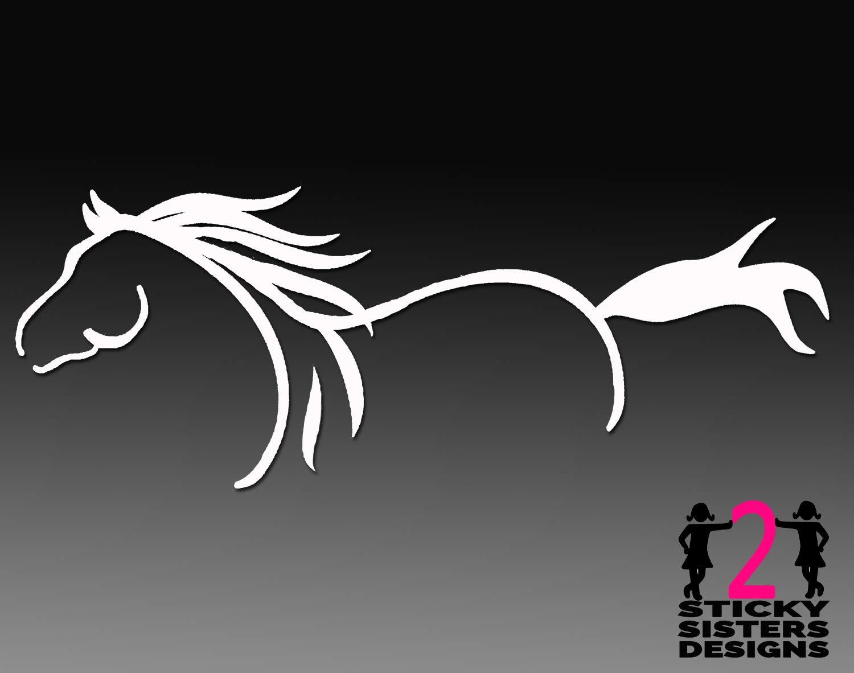 Horse Silhouette Outline Custom Vinyl Decal