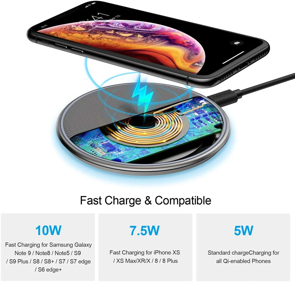 Amazon coupon code for Wireless Charger Qi Certified Zinc-Alloy