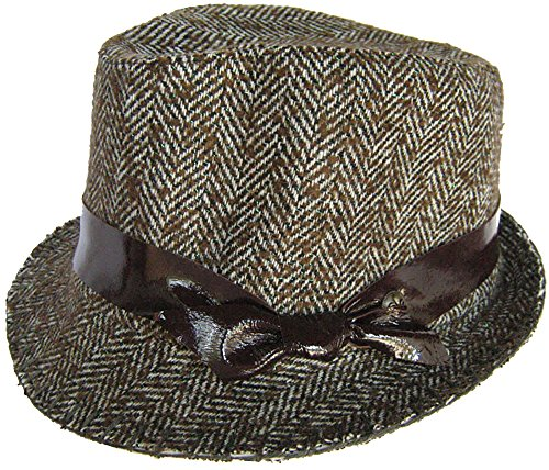 Dream Control Wool Tweed Herringbone Fedora (S (6 1/8 - 6 1/4))