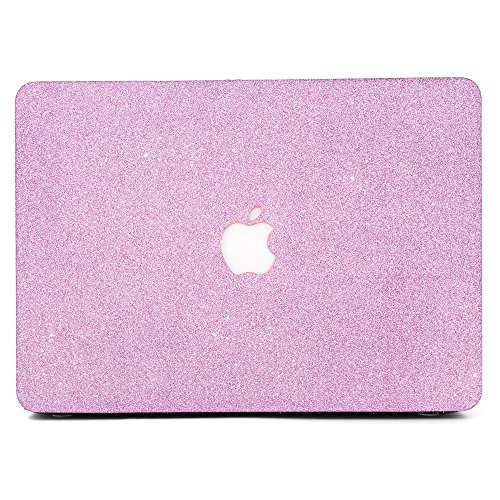 B BELK MacBook Air 11 Case,2 In 1 Matte Glitter Bling Texture Ultra-Slim Light Weight PC Hard Case With Keyboard Cover For MacBook Air 11.6 Inch(Model:A1465/A1370)- Rose Red