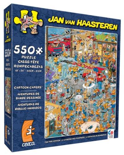 [Ceaco Jan Van Haasteren Cartoon Capers The Fire Station Jigsaw Puzzle] (Cartoon Jigsaw Puzzles)