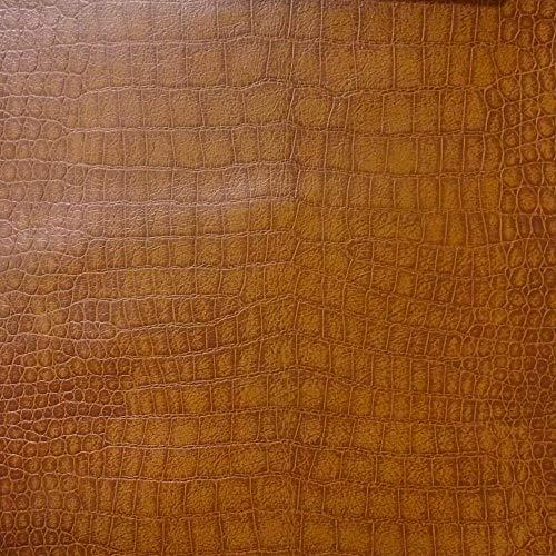 Bowler Handbag Small (Alligator Chestnut Color Upholstery Leather Vinyl Fabric Sold Per Yard (Luvfabrics))