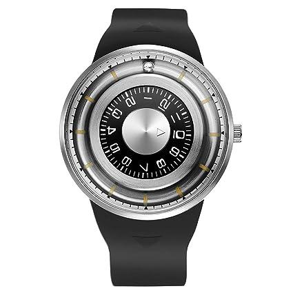 JohnJohnsen 2018 más nuevos Hombres Relojes Simples con Banda de Goma Reloj de Cuarzo con Perlas