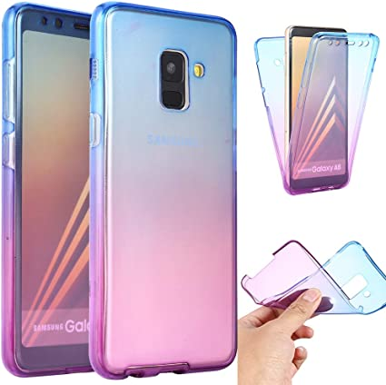 Ysimee Coque Samsung Galaxy A8 2018, 360 Degrés Silicone ...
