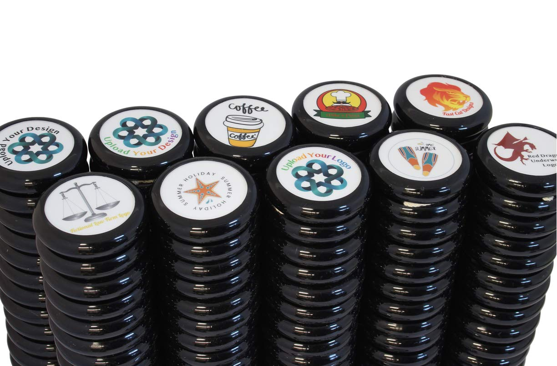 Spintastics 100 Pack Bulk Yoyos Black Professional Wood Axle Yoyo with Your Custom Graphic Design by Spintastics (Image #4)