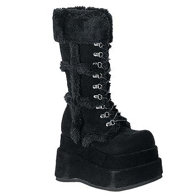 Demonia SLUSH-249 Damen Stiefel, Schwarz (Blk Vegan Leather), EU 40 (UK 7) (US 10)