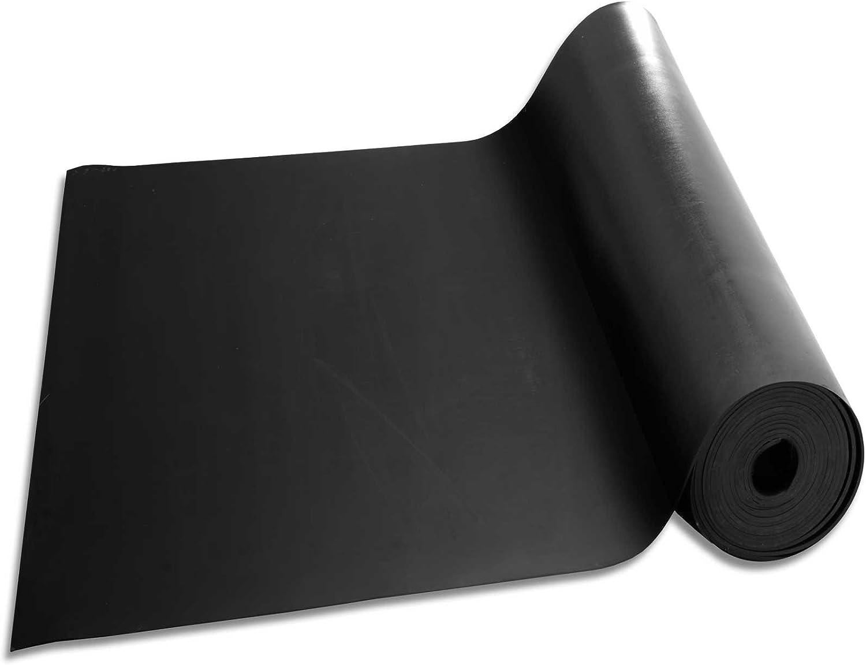 Plaque en Caoutchouc pour Projet Bricolage Feuille de Caoutchouc NR//SBR Palette Rouleau Caoutchouc Antid/érapant 120x300 cm Epaisseur 3mm Garage 9 Epaisseurs au m/ètre