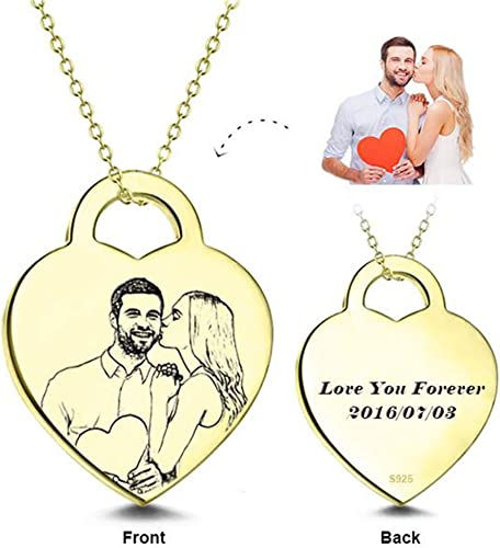 Personalized Photo Pendants Custom Necklace Loved One Gift for pet Family Member