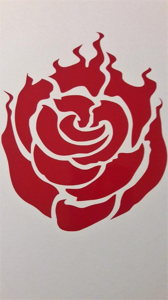 Chase Grace Studio Rwby Anime Ruby Rose Vinyl Decal Sticker|RED|Trucks Vans  SUV Laptops Wall Art|5 25