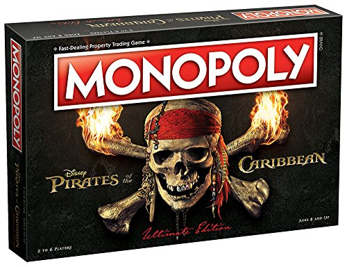 USAOPOLY MN004-123-17 Pirates of The Caribbean Ultimate Edition Monopoly Board Game, -