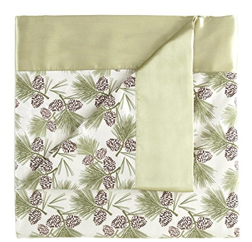 Pinecone Four Light - Nil 1pc 60 x 90 Twin Pinecone Lightweight Sheet Throw Blanket Kids, 4 Matching Dyed Satin Classic Traditional Polyester, Light Green Solid Color Fleece Micro Flannel Woven Knit