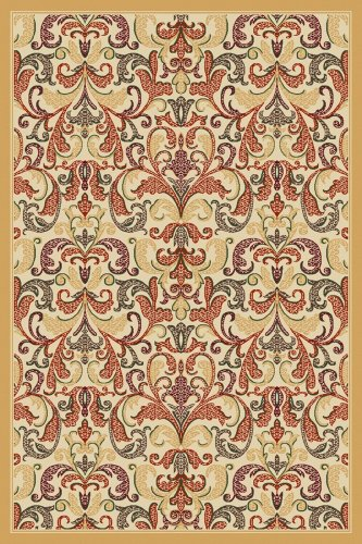 Agra Gold Area Rugs - Regence Home 91355 Agra Woven Area Rug, Gold, 60-Inch by 84-Inch