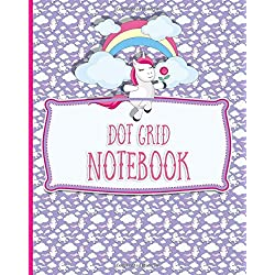 Dot Grid Notebook: Bullet Grid Journal For Teens, Dotted Grid Paper - Unicorn Cover (Volume 75)