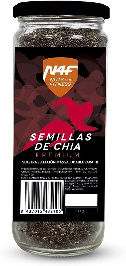 Semillas de chia premium (300g.) Nuts4Fitness: Amazon.es ...