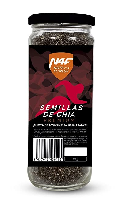 Semillas de chia premium (300g.) Nuts4Fitness: Amazon.es: Hogar