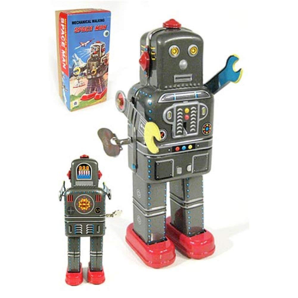 TinToyArcade Mechanical Walking Space Man