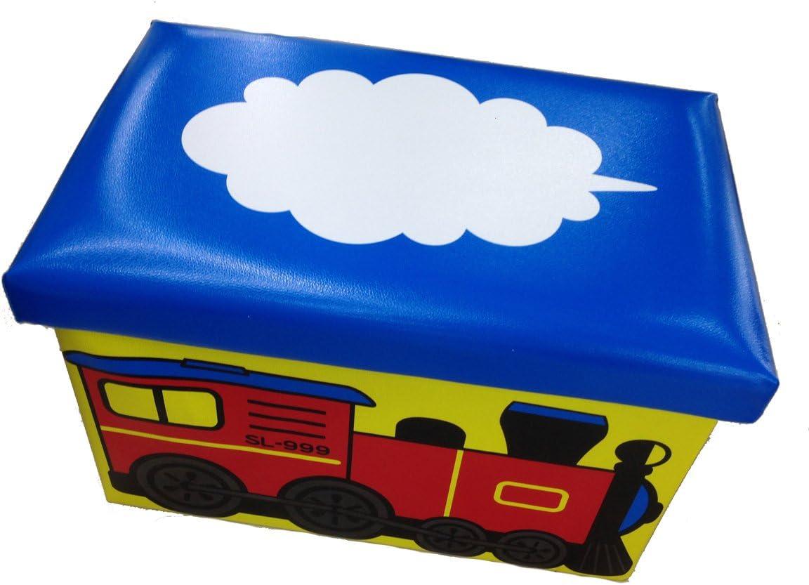 GMMH Taburete 49/x 31/x 31/cm Plegable Caja Original de Juguete Juguetes Caja de Juguetes Guardar Convertible en Taburete Plegable