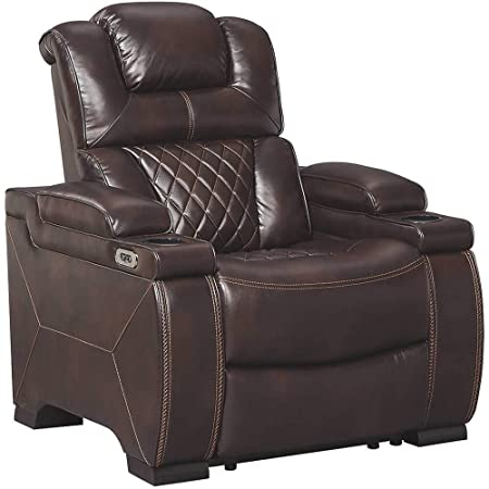 Signature Design by Ashley 7540713 Warnerton Power Recliner, Chocolate