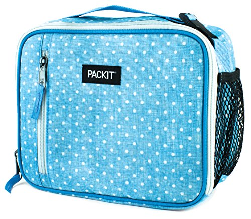 PackIt Freezable Classic Lunch Box, Chambray Dot