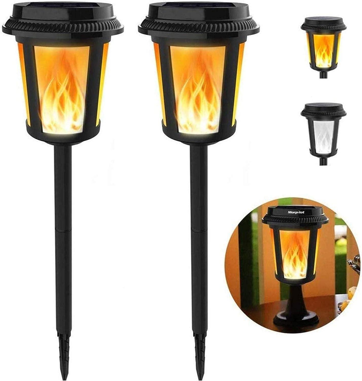 2 4Pack Solar Torch Flame Dancing Light LED Flackernde Flammenlampe Garten