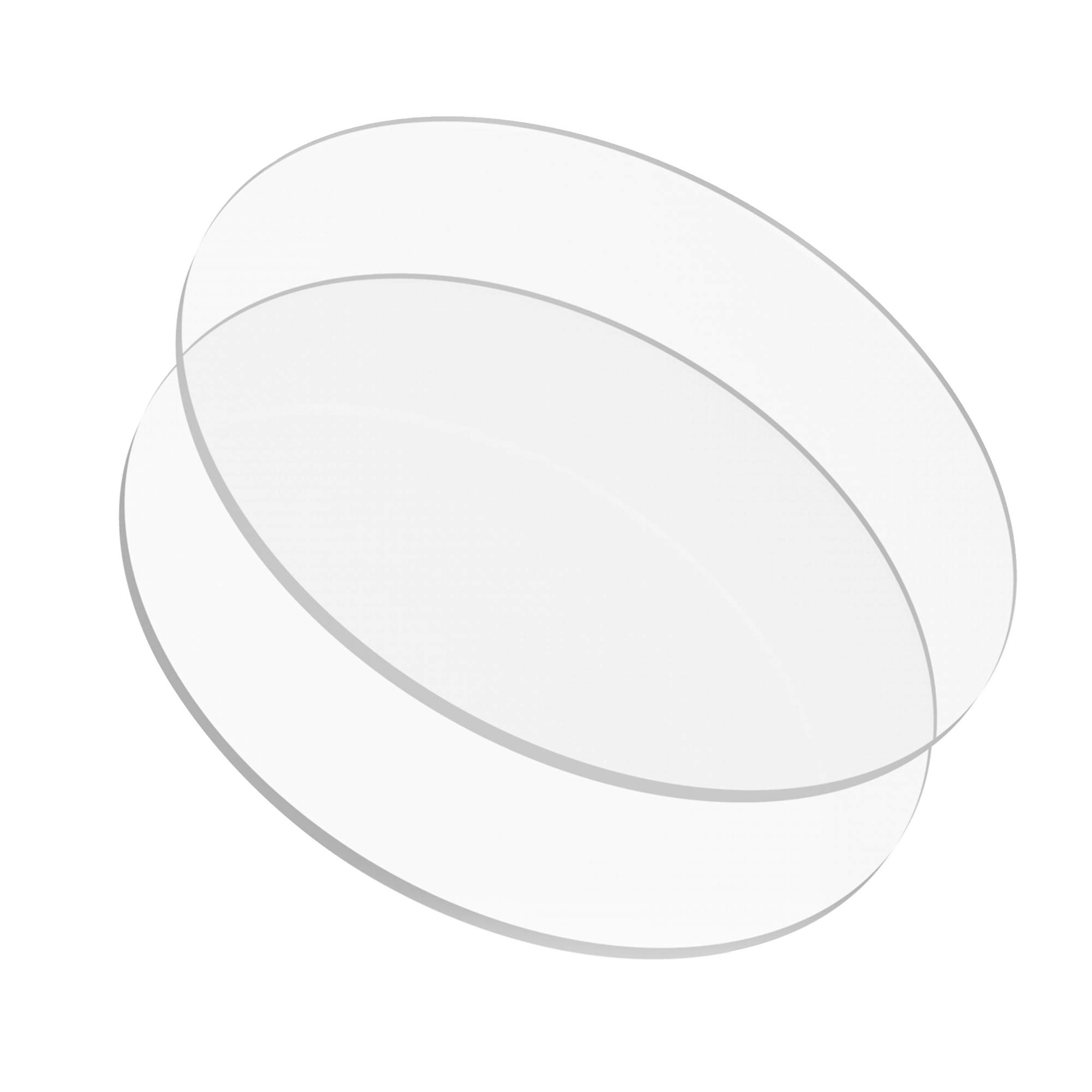 12.50 inch Buttercream Acrylic Round Cake Disks Set of 2 (0.18 or 3/16 inch thick) - Great for Serving Bake Goods and Art Craft Project