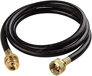SHINESTAR 5 Feet Propane Extension Hose Assembly for Distribution Tree 1 in x 20 Female Throwaway Cylinder Thread x 1inchx20 Male Throwaway Cylinder Thread - T and Y Connector
