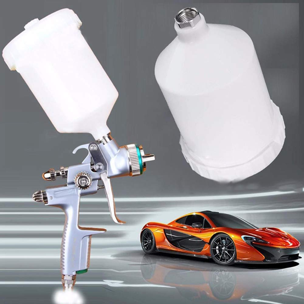 supercobe 600ML Plastic Car Spray Paint Airbrush Cup Auto Paint Care Tool Pot Container