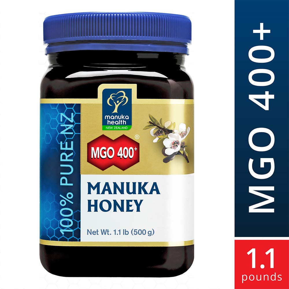 Manuka Health - MGO 400+ Manuka Honey, 100% Pure New Zealand Honey, 1.1 lbs (500 g)