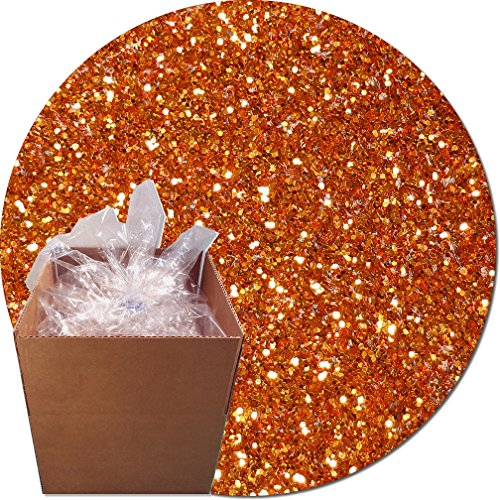 Glitter My World! Craft Glitter: 25lb Box: Carrot Orange by Glitter My World!